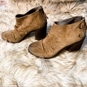"""🤎 Suede Leather Ankle Booties """"Shale"""" 🤎"""